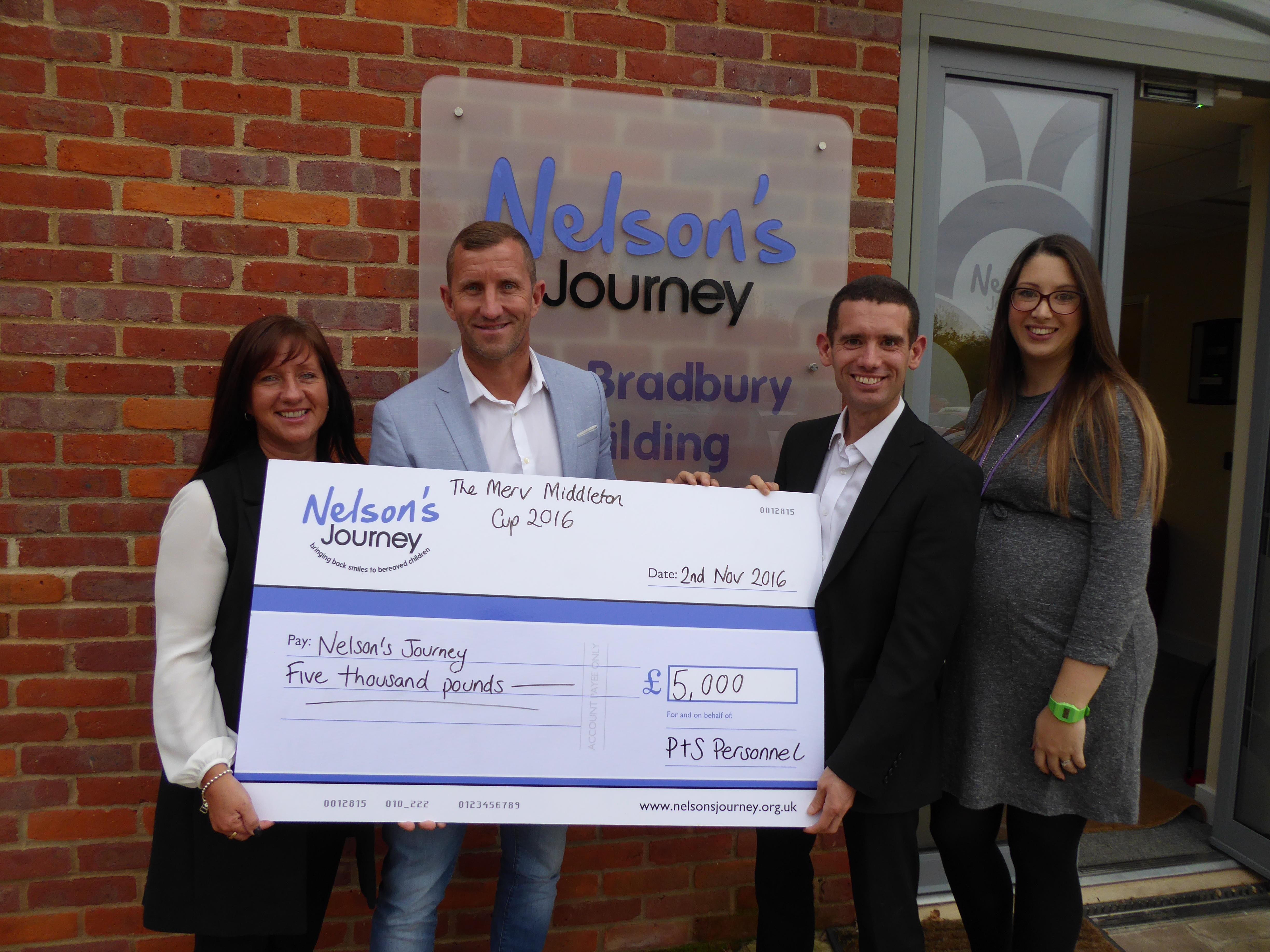 Nelson's Journey Cheque