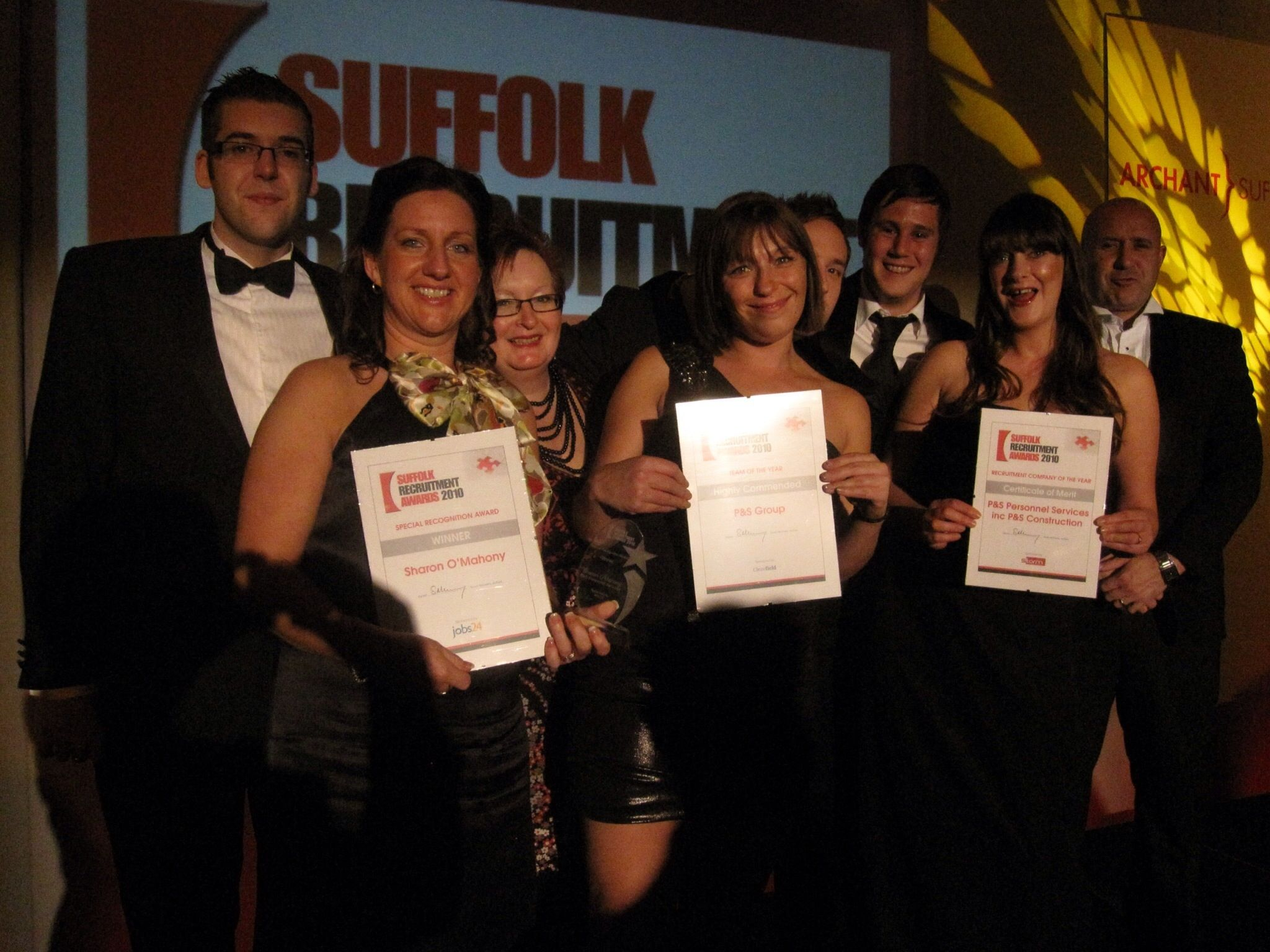 P&S Shine at the Suffolk Recruitment Awards 2010